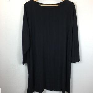 Nwt. J. Jill black textured tunic. Women's size xl